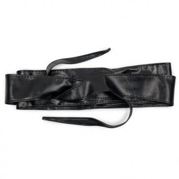 Fusciacca nera donna cintura in ecopelle