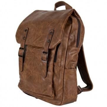 Zaino vintage elegante con tasca tablet marrone degree