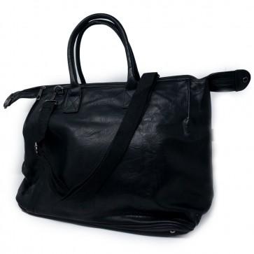 Borsa bauletto nera donna con tracolla