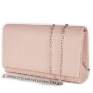 Clutch bag rosa elegante in ecopelle