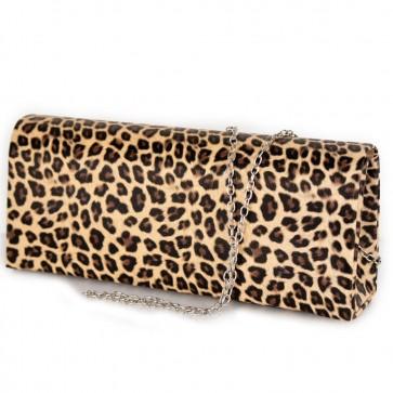 Pochette ecopelle stampa leopardo