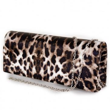 Pochette animalier leopardata elegante da cerimonia