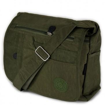 Borsa tessuto verde militare da donna