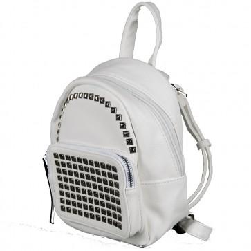 Zainetto bianco con borchie