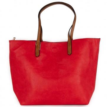 Borsa rossa grande capiente shopping bag