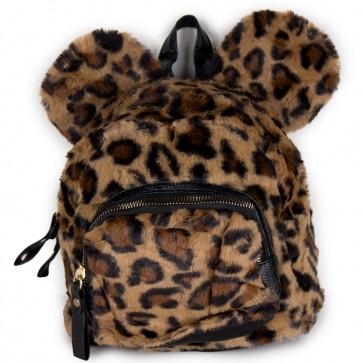 Zainetto animalier leopardato marrone da donna