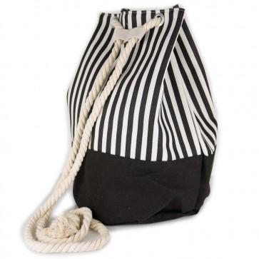 Borsa a sacco con bretelle in corda