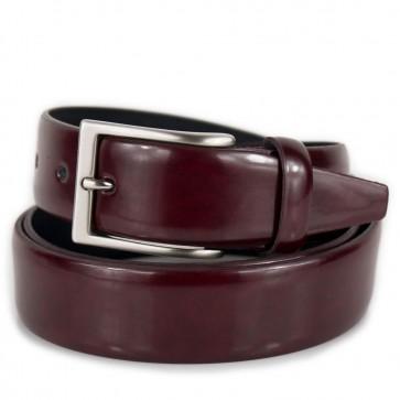 Cintura rosso bordeaux elegante da uomo