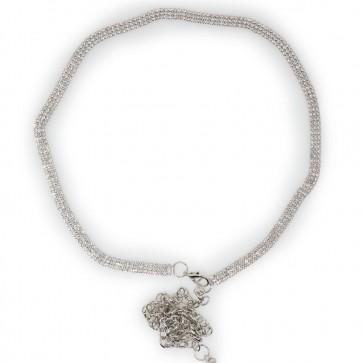 Cintura argento gioiello donna in corda
