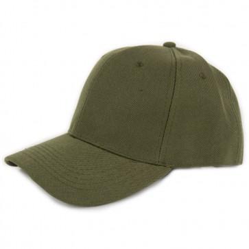 Cappello verde militare con visiera a becco