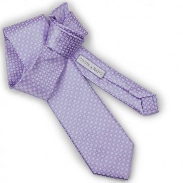 Cravatta lilla jacquard uomo cucita a mano