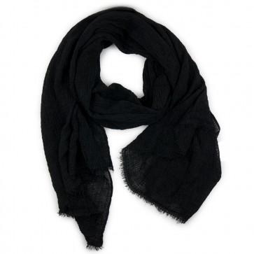 Sciarpa nera cotone crepe