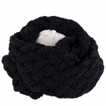 Sciarpa ad anello con maglia a trecce