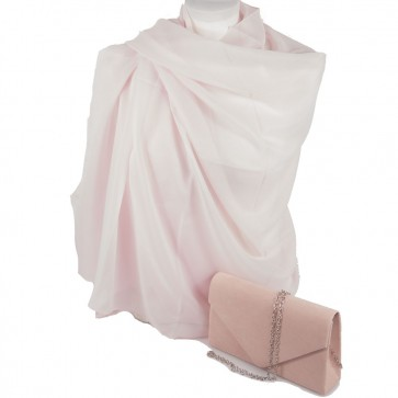 Stola e borsetta cerimonia rosa