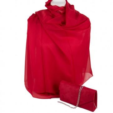 Stola e borsetta cerimonia rossa