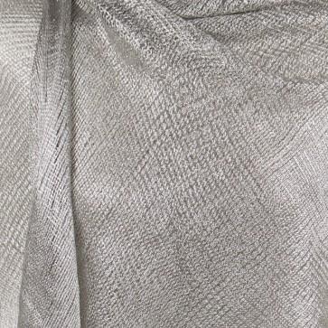 Stola argento chiaro elegante cerimonia a rete con frange
