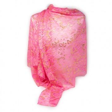 Coprispalla rosa a rete elegante per cerimonia