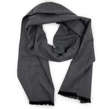 Sciarpa grigio scuro invernale tinta unita