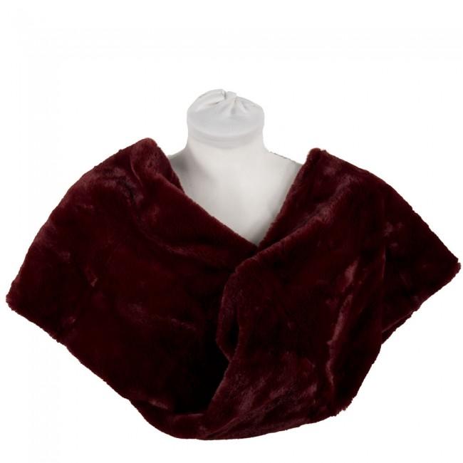 on sale dc171 52319 Coprispalle pelliccia ecologica ad anello
