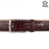 Cintura uomo bordeaux pelle stampa coccodrillo