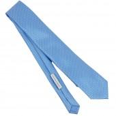 Cravatta azzurra fantasia micro quadri da uomo