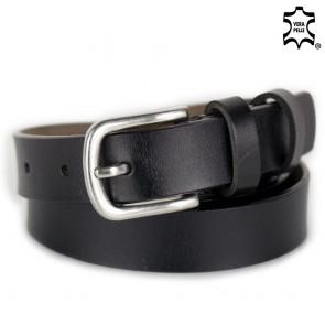 Cintura nera donna sottile con cucitura