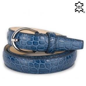 Cintura blu donna sottile
