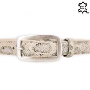 Cintura donna beige stampa pitone