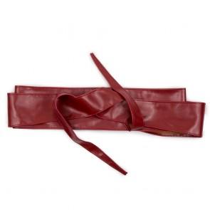 Fusciacca bordeaux cintura da donna in ecopelle