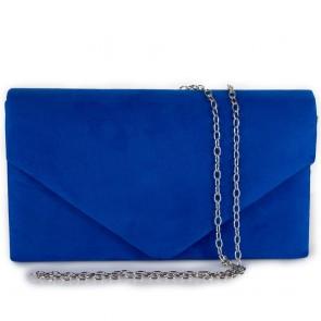 Pochette blu elettrico elegante donna