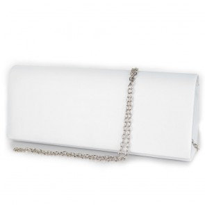 Pochette raso bianco elegante da donna