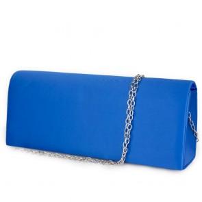 Pochette raso blu elettrico con tracolla