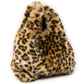 Pochette donna elegante ecopelliccia leopardata degree