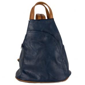 Zaino blu borsa monospalla donna vintage