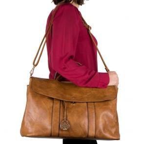 Borsa grande donna bag capiente cuoio outfit