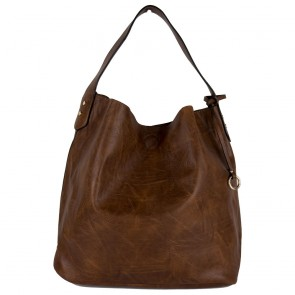 Borsa marrone a spalla hobo bag con tracolla