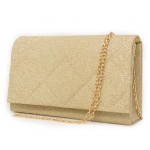 Borsetta dorata glitter elegante