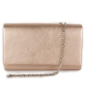 Clutch bag rose gold laminata a busta