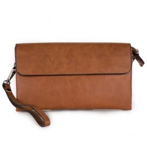 Pochette uomo borsa color cuoio