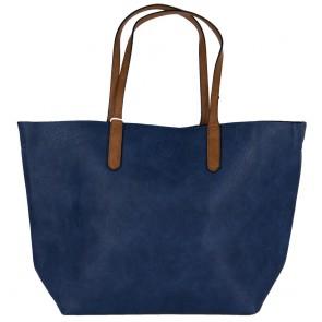 Borsa blu grande hobo bag con tre accessori