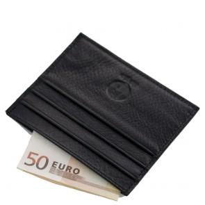 Porta carte credito uomo in pelle nero flat SL