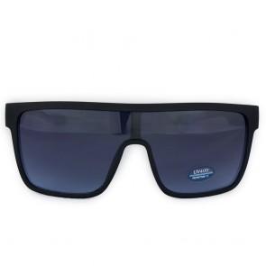 Occhiali da sole blu a maschera