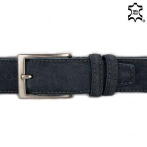 Cintura uomo grigio scuro scamosciata
