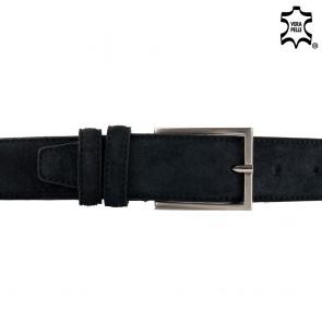 Cintura nera uomo di pelle scamosciata