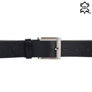 Cintura in pelle uomo nera 4cm
