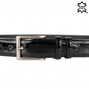 Cintura uomo elegante di vernice lucida