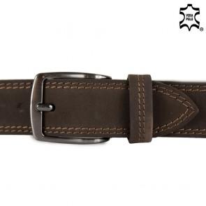 Cintura uomo marrone nabuk 4cm