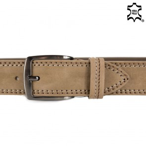 Cintura nabuk uomo vera pelle 4cm