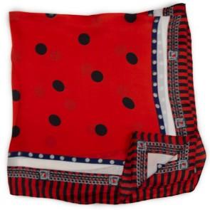 Foulard seta rosso a pois
