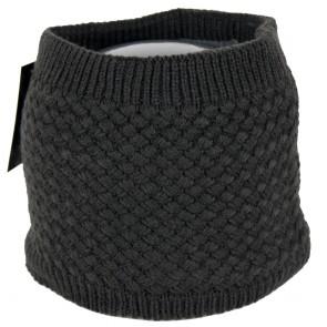 Cappello scaldacollo grigio invernale punto a maglia rombo